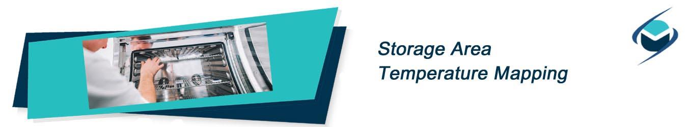 storage area temperature mapping