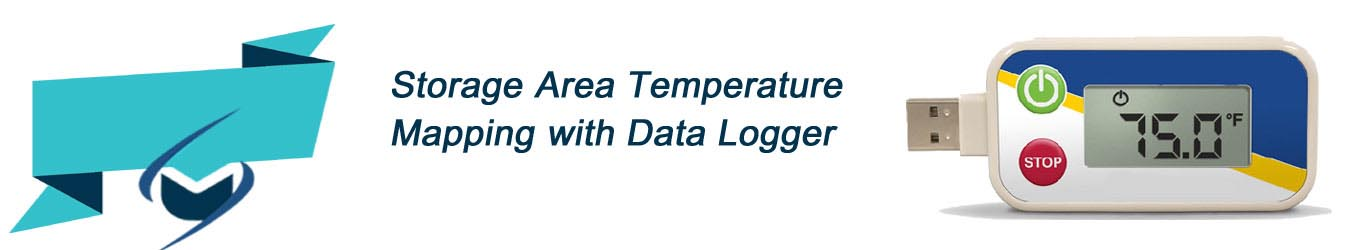 storage area temperature mapping with data logger