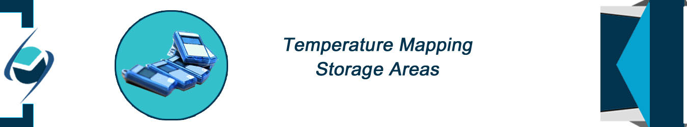 Temperature mapping storage areas