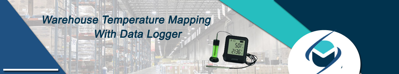 warehouse temperature mapping with data logger