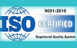 ISO 9001:2015 Certified company for validation