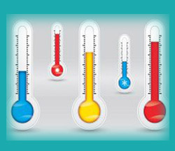 Temperature mapping in Laboratories